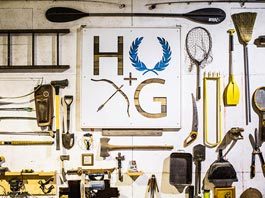collection of tools on wall